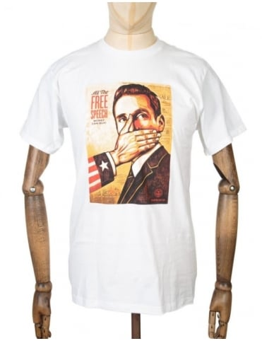 Obey Clothing Pay up or Shut up T-shirt - White