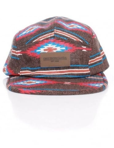 Prescott Five Panel Hat - Brown
