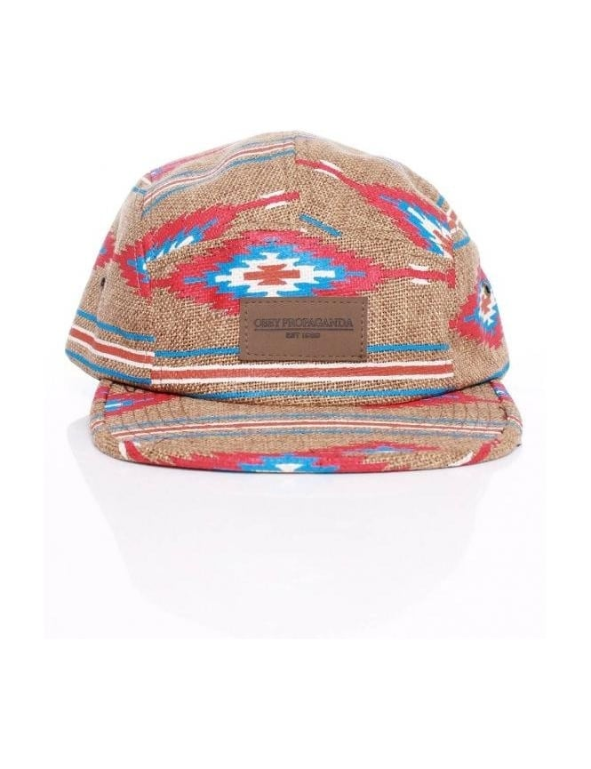 Obey Clothing Prescott Five Panel Hat - Natural