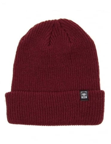 Obey Clothing Ruger 89 Beanie Hat - Maroon