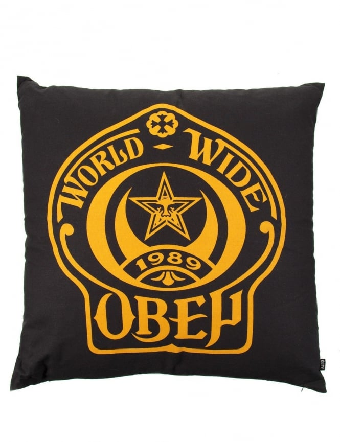 Obey Clothing Shield Cushion - Black