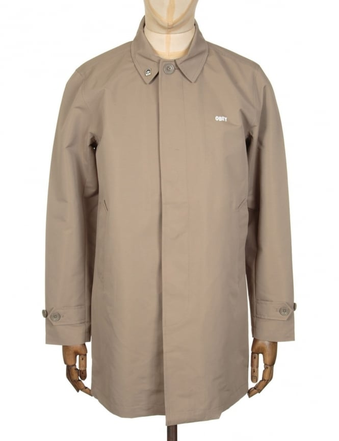 Obey Clothing Sneaky Trench Coat - Tan