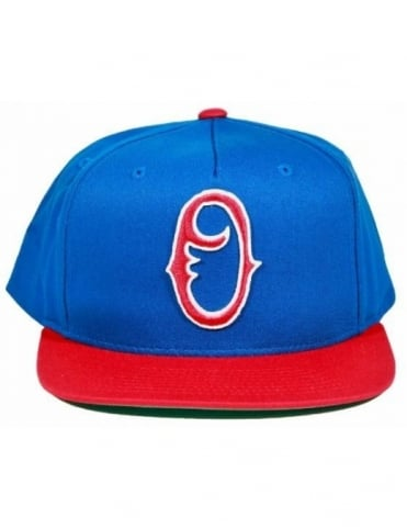 Obey Clothing Staple Snapback - Blue/Red