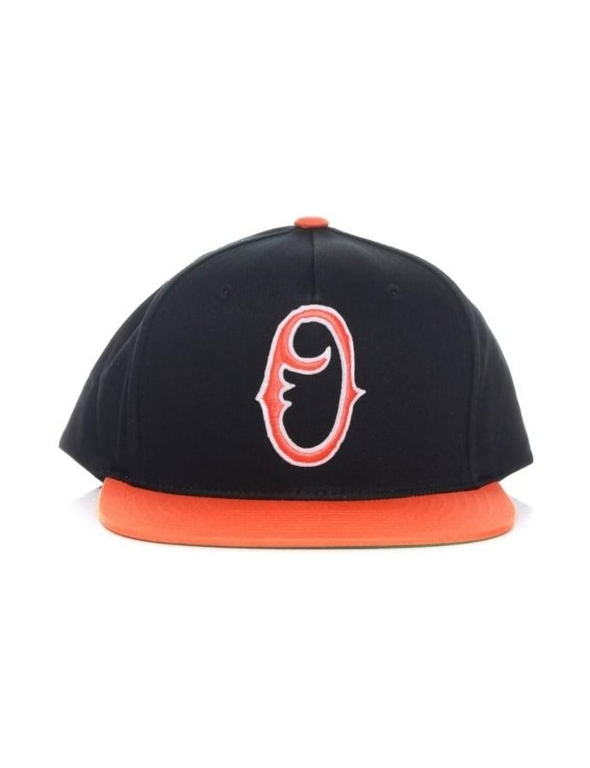 Obey Clothing Staple Snapback Hat - Black/Orange