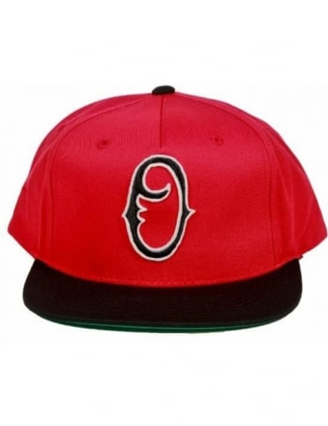 Obey Clothing Staple Snapback - Red/Black