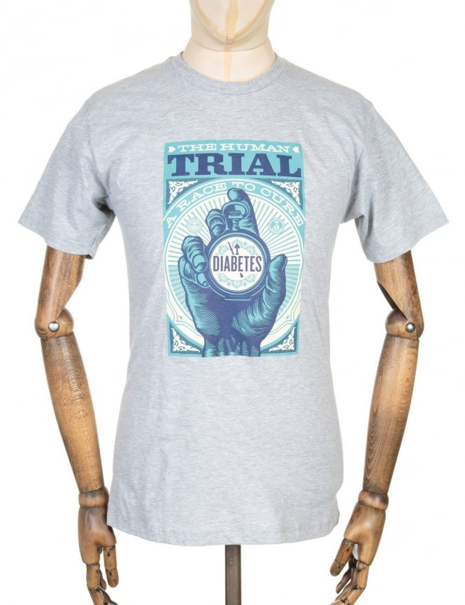 Obey Clothing The Human Trial T-shirt - Heather Grey