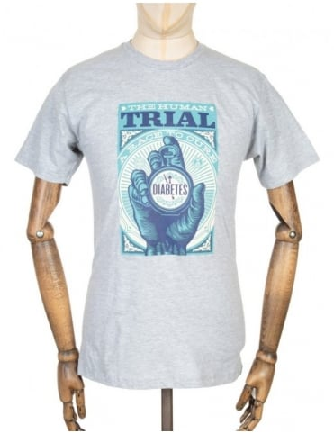 The Human Trial T-shirt - Heather Grey