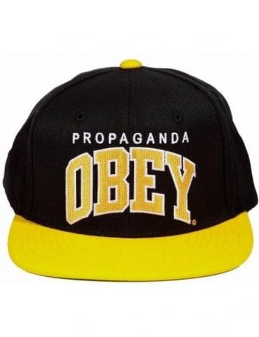 Obey Clothing Throwback Snapback - Black/Gold