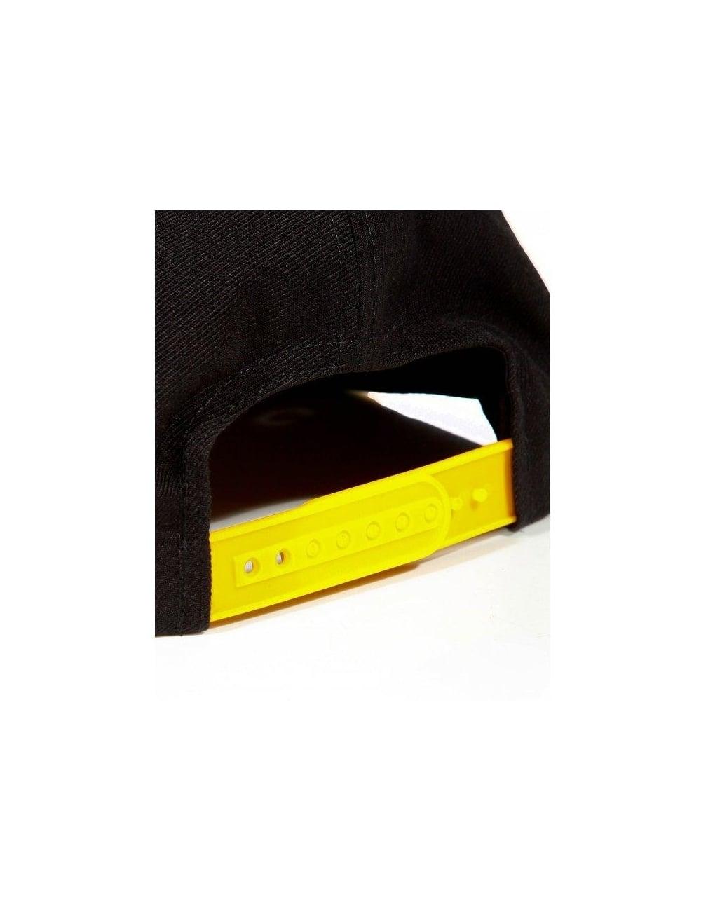 Obey Clothing Throwback Snapback Black//Gold