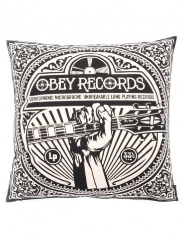 Unbreakable Records Pillow - Black