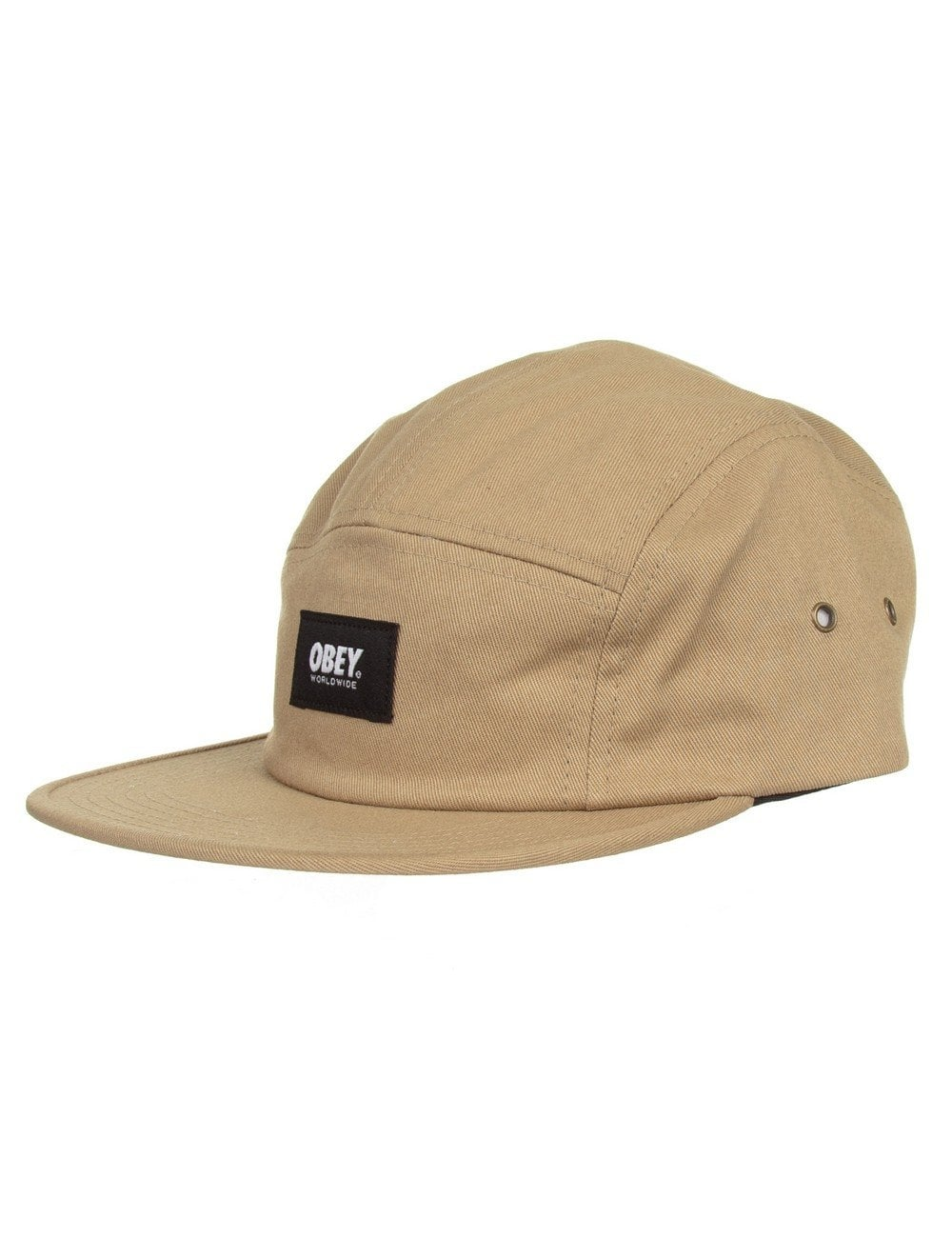 ce82ef2444c Obey Clothing Worldwide 5 Panel Hat - Khaki - Accessories from Fat ...