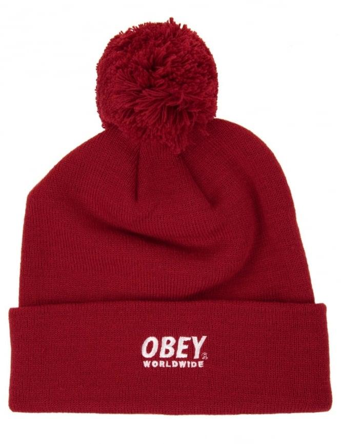 Obey Clothing Worldwide Pom Pom - Red