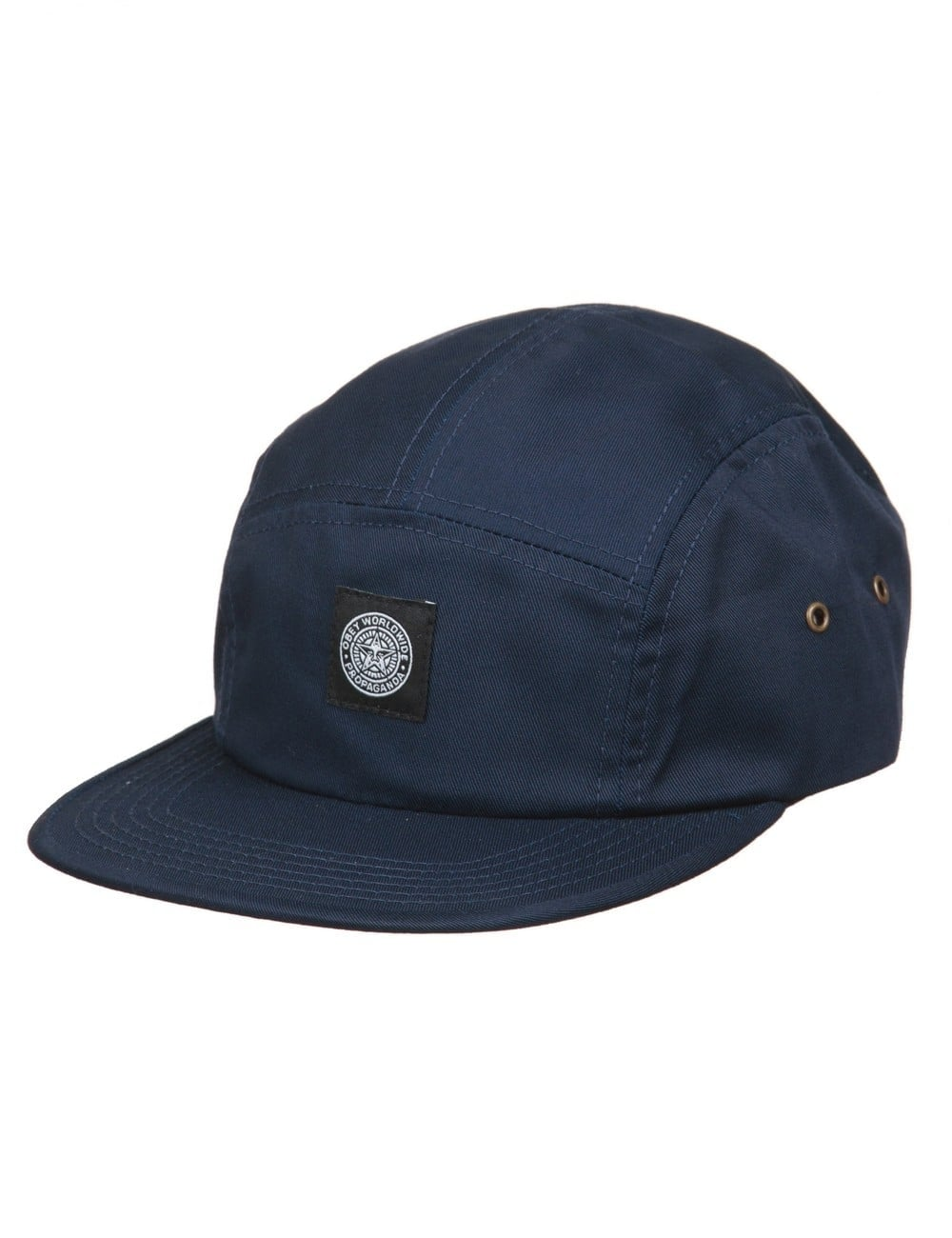 a0abb507bb53c Obey Clothing Worldwide Seal 5 Panel Hat - Navy - Accessories from ...