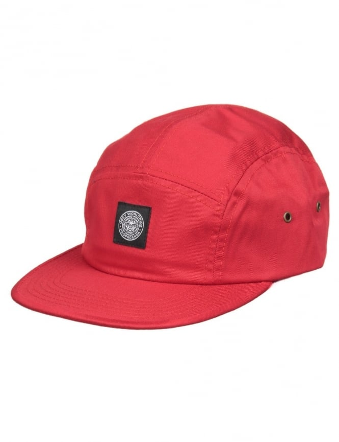 Obey Clothing Worldwide Seal 5 Panel Hat - Red