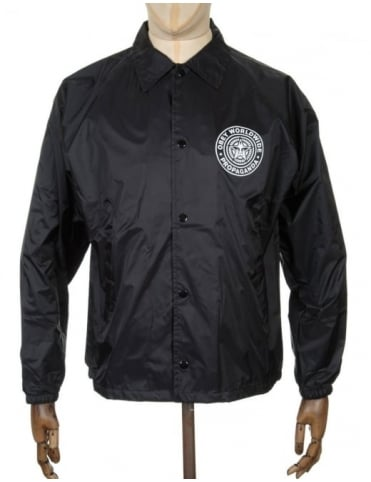Obey Clothing Worldwide Seal Coach Jacket - Black