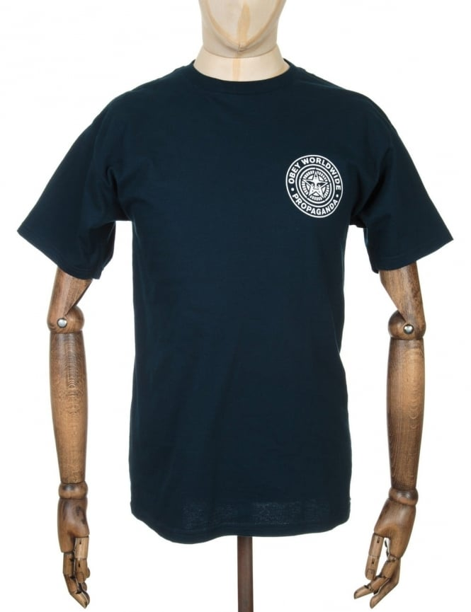 Obey Clothing Worldwide Seal T-shirt - Navy Blue