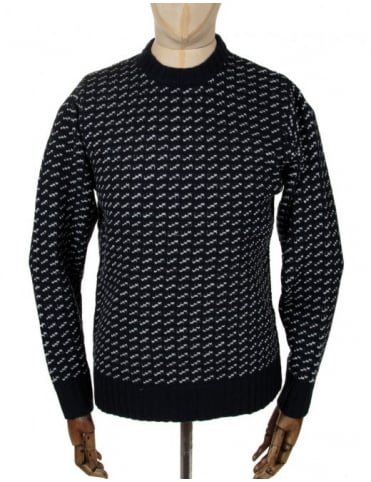 York Knitted Jumper - Navy