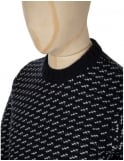 Obey Clothing York Knitted Jumper - Navy