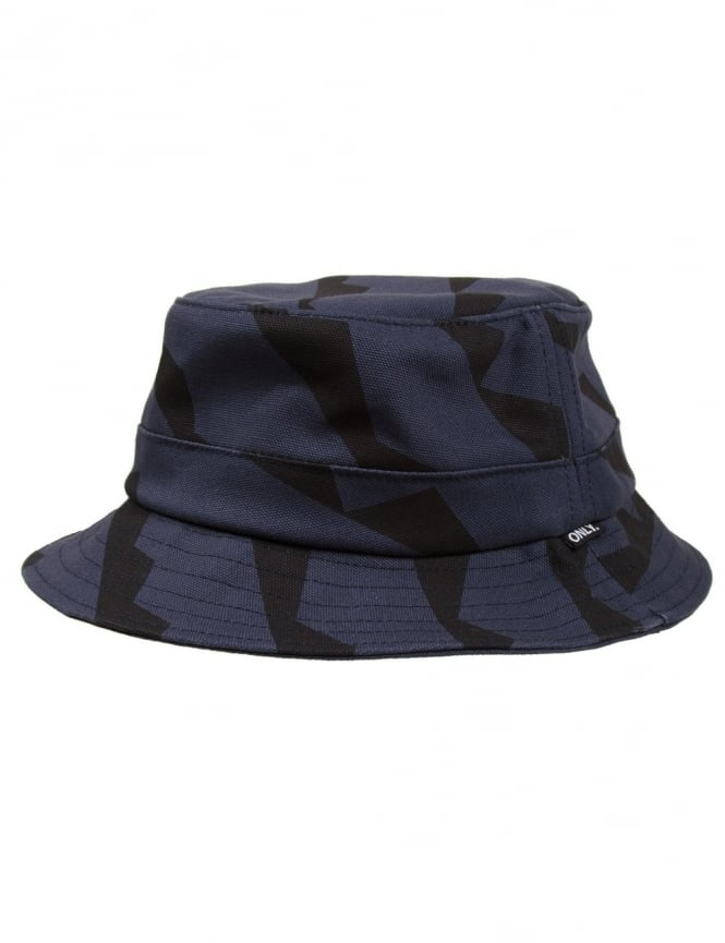 Only NY Clothing Cubism Bucket Hat - Navy