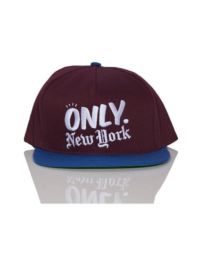 Only NY Clothing Logo Snapback - Burgundy/Royal