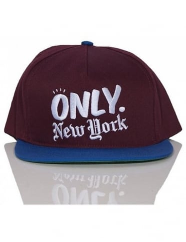 Logo Snapback - Burgundy/Royal