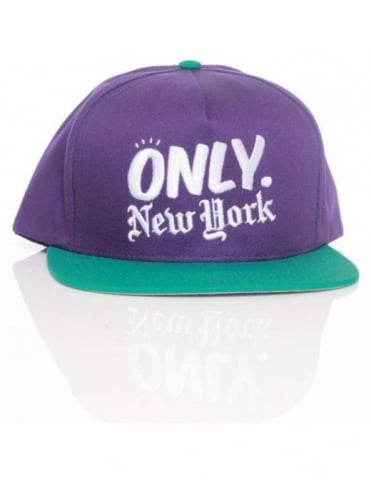 Only NY Clothing Logo Snapback - Purple/Teal