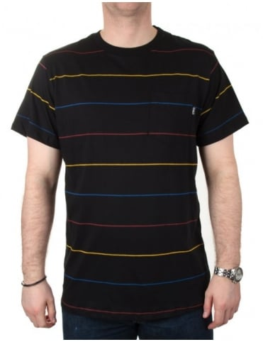 Only NY Clothing Primary Stripes Pocket Tee - Black