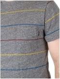 Only NY Clothing Primary Stripes Pocket Tee - Heather Grey