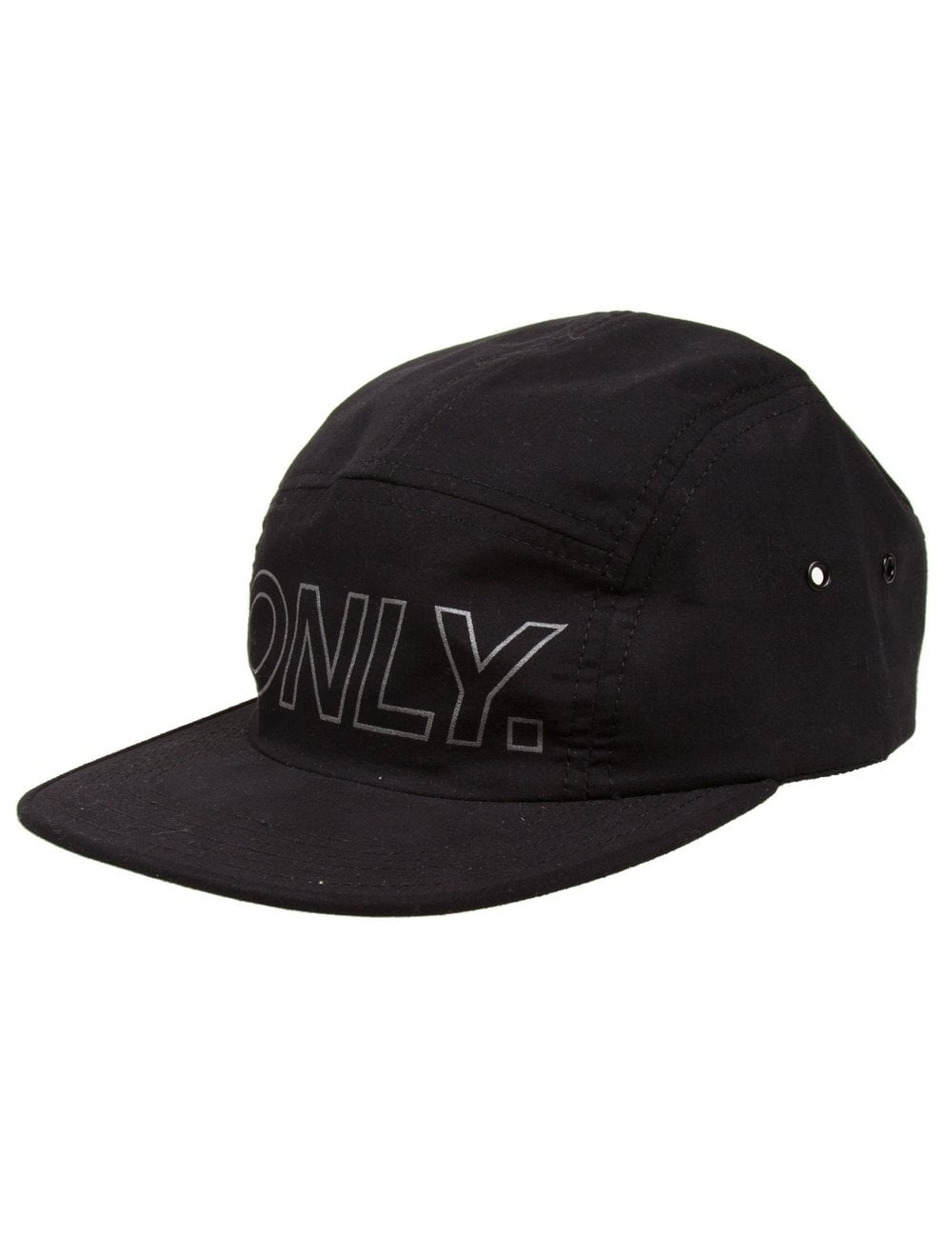 360ecd44229 Only NY Clothing Reflective Logo 5 Panel Hat - Black - Accessories ...