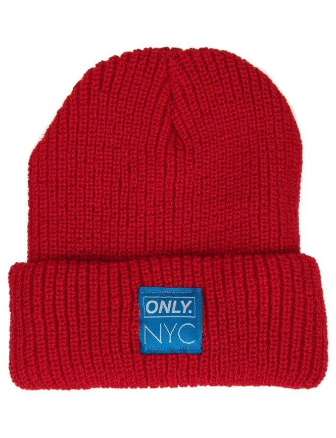 Only NY Clothing Summit Beanie Hat - Dark Red
