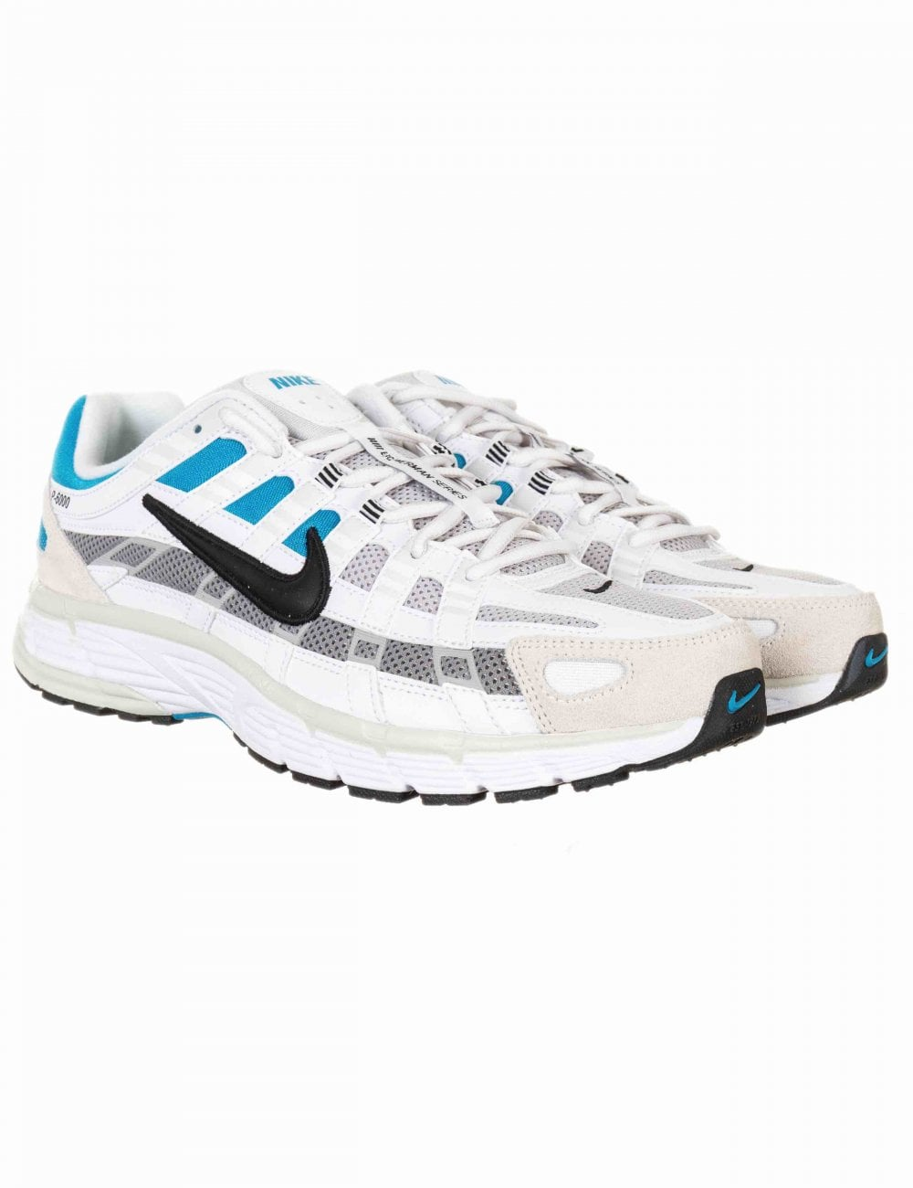 Nike P-6000 Trainers - White/Blue/Black