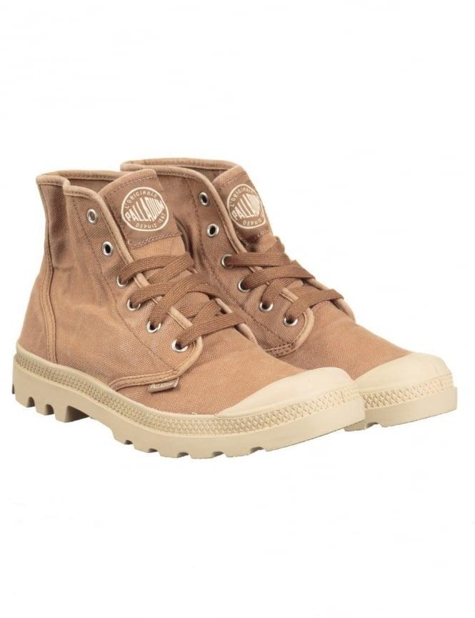 Palladium Pampa Hi Boots - Espresso/Putty