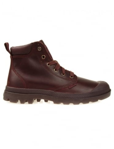 Palladium Pampa Hi Cuff Leather Boots - Russet