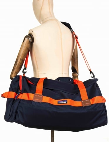 Arbor 60L Duffle Bag - Navy Blue w/Paintbrush Red