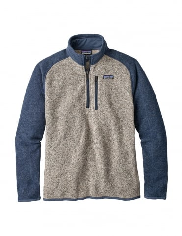 Better Sweater 1/4 Zip - Bleached Stone/Dolomite Blue