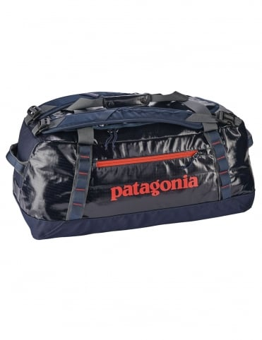 Black Hole 60L Duffle Bag - Navy Blue w/Paintbrush Red