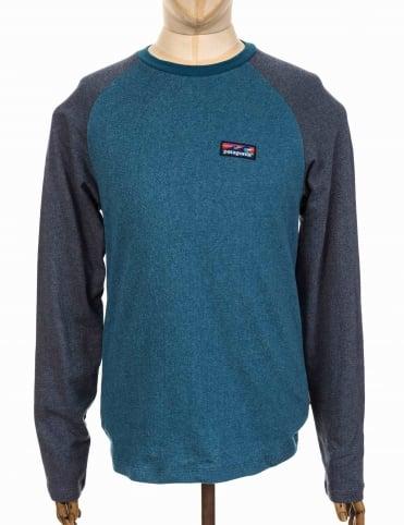 Patagonia Board Short Label Lightweight Crew Sweatshirt - Big Sur Blue