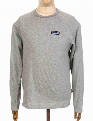 Patagonia Board Short Label Lightweight Crew Sweatshirt - Feather Grey