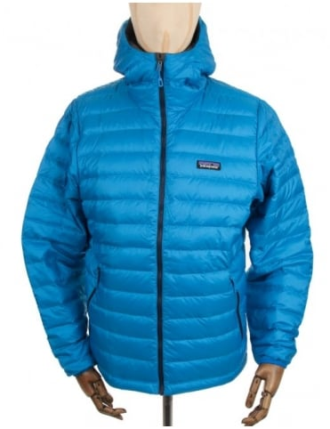 Patagonia Down Sweat Hooded Jacket - Andes Blue
