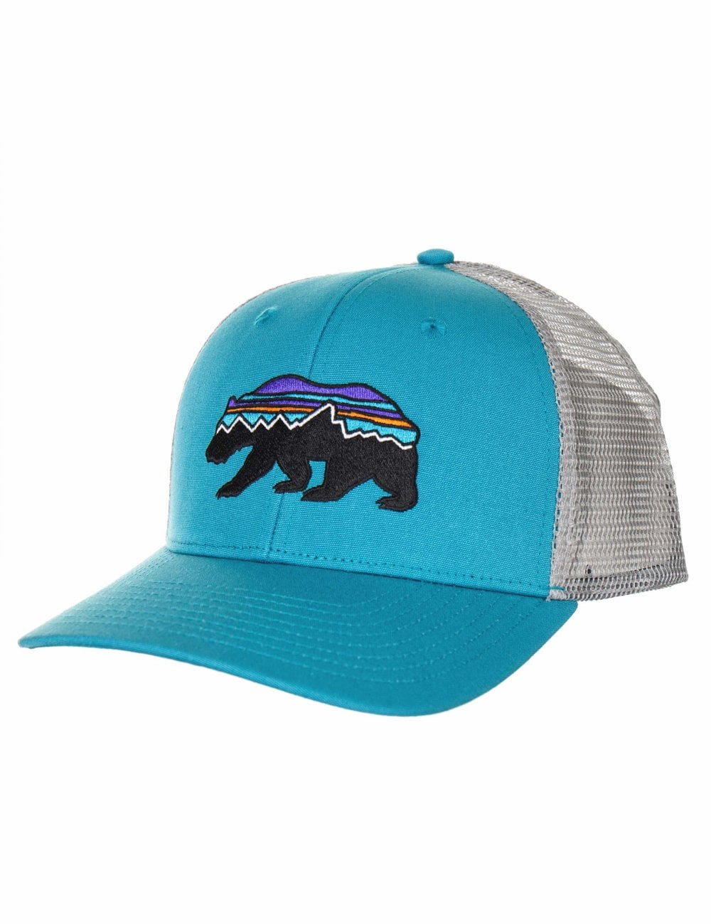 538331c9 Patagonia Fitz Roy Bear Trucker Hat - Mako Blue - Accessories from ...