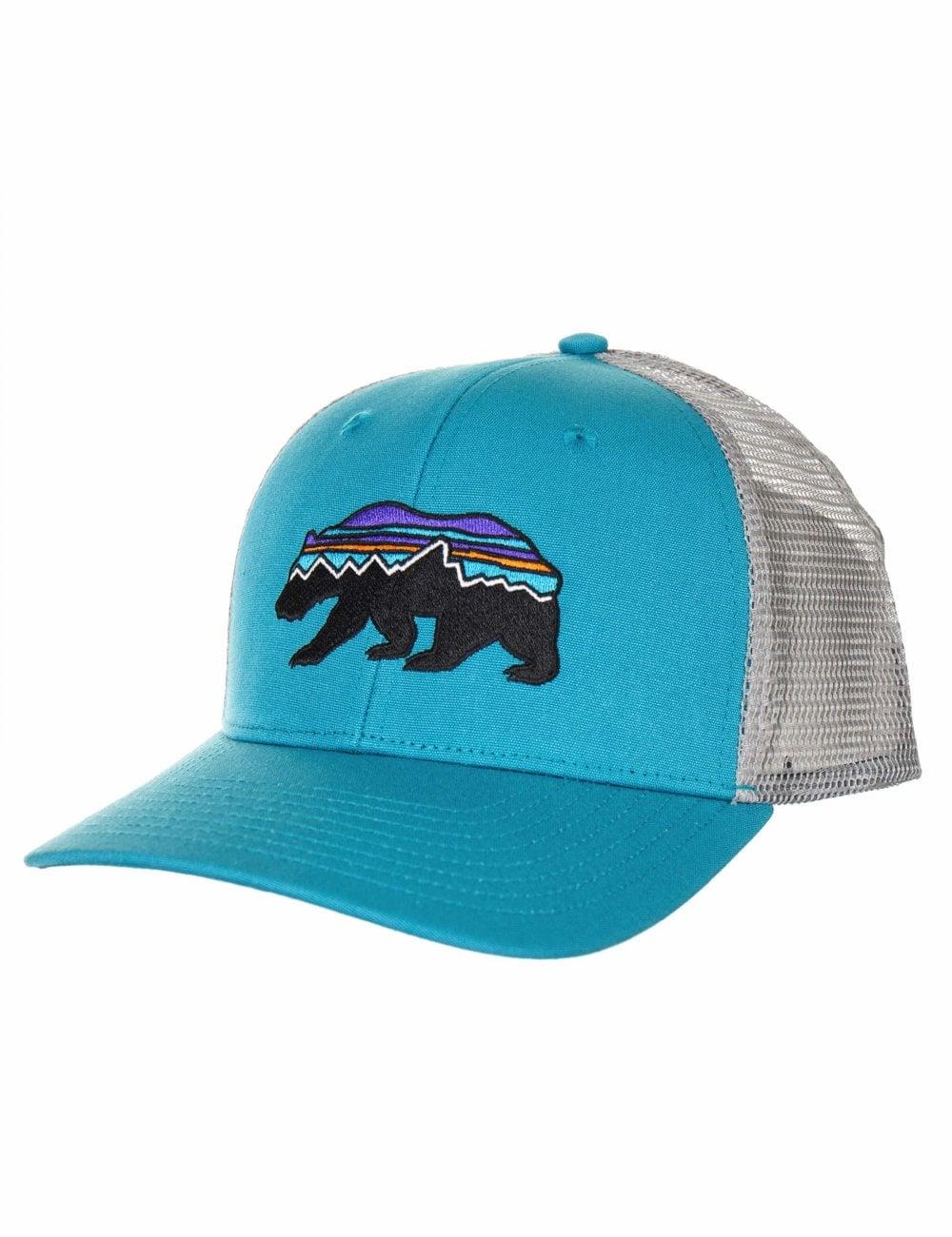 reputable site e3ae9 cfcf1 Patagonia Fitz Roy Bear Trucker Hat - Mako Blue