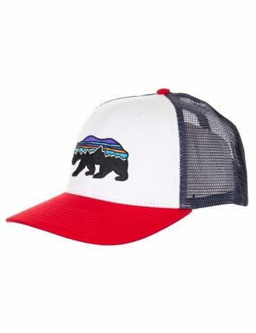 d61519e6e51 Patagonia Fitz Roy Bear Trucker Hat - White