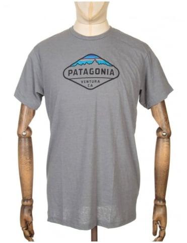 Patagonia Fitz Roy Crest Logo T-shirt - Narwal Grey
