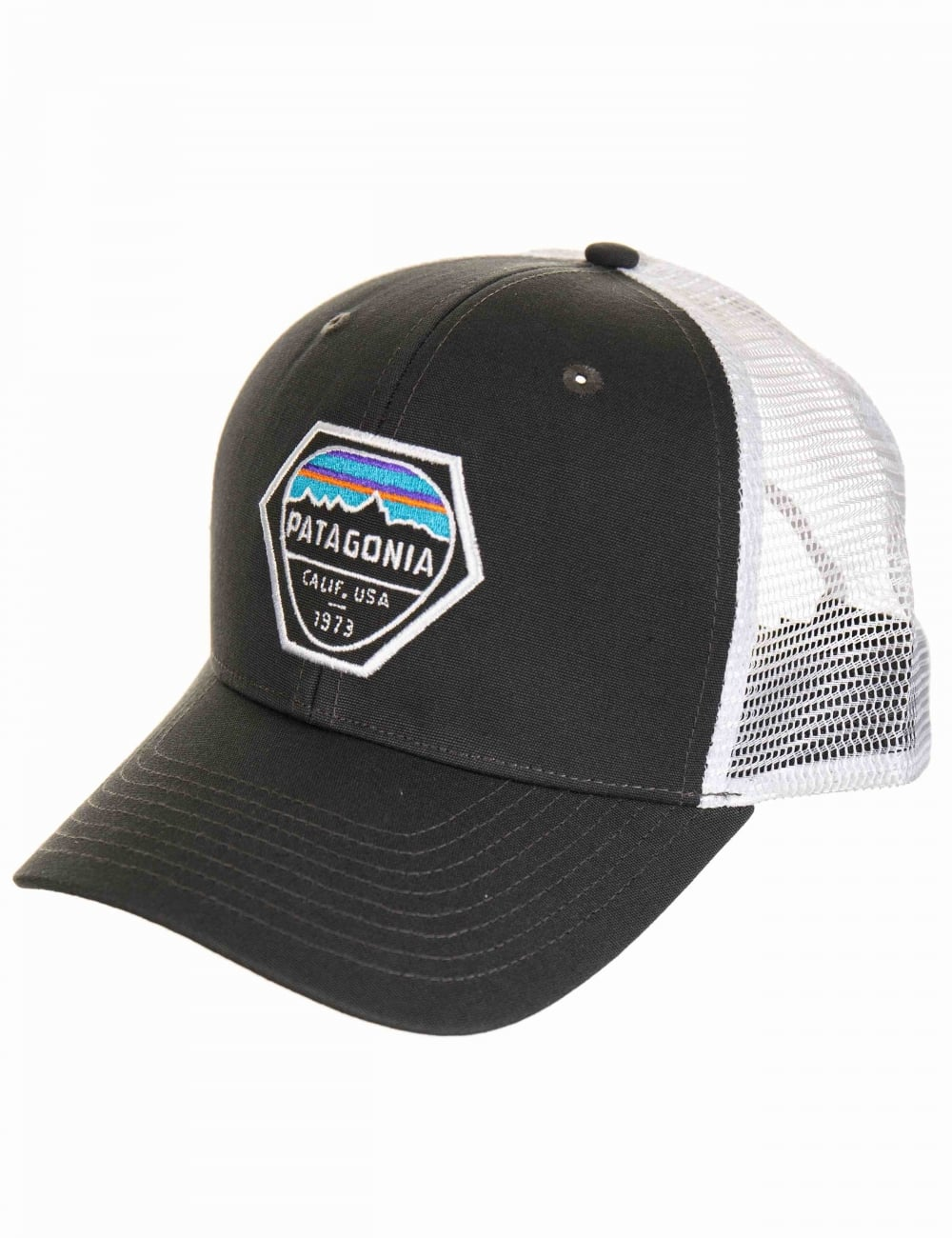 509c93297f6 Patagonia Fitz Roy Hex Trucker Hat - Forge Grey - Accessories from ...