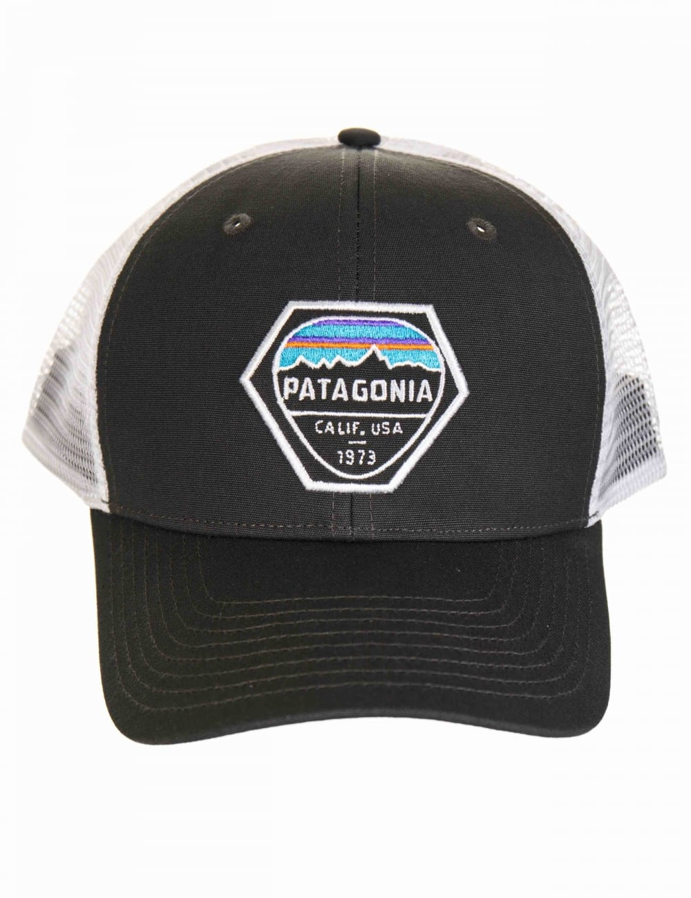 437746e3484 Patagonia Fitz Roy Hex Trucker Hat - Forge Grey - Accessories from ...