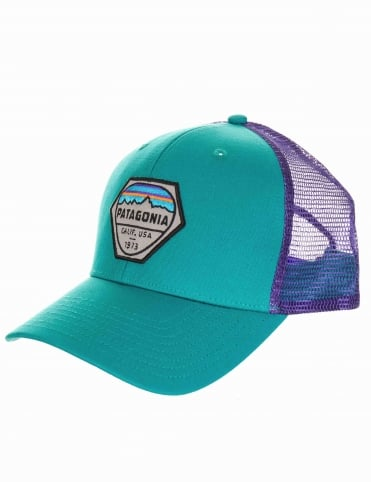 Fitz Roy Hex Trucker Hat - True Teal
