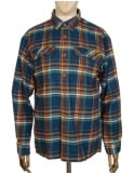 Patagonia L/S Fjord Flannel Shirt - Blue Ox: Navy Blue
