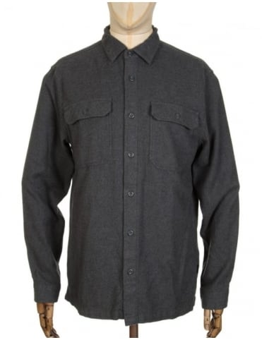 L/S Fjord Flannel Shirt - Forge Grey