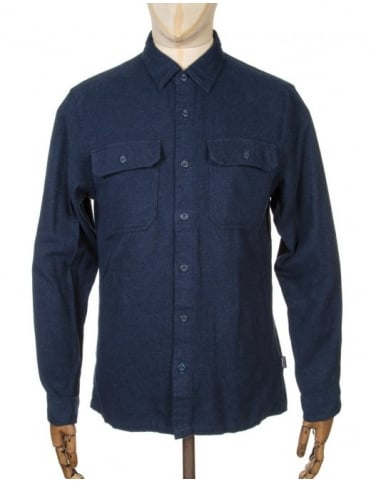 Patagonia L/S Fjord Flannel Shirt - Navy Blue