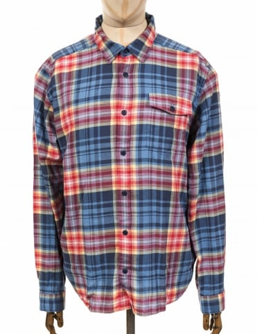L/S Lightweight Fjord Flannel Shirt - Rootsy: Railroad Blue
